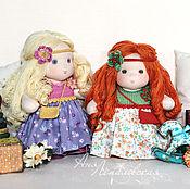 Куклы и игрушки ручной работы. Ярмарка Мастеров - ручная работа Маняши Лиза и Варя. Handmade.