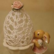 Сувениры и подарки ручной работы. Ярмарка Мастеров - ручная работа Яйцо ажурное с розой. Handmade.