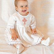Работы для детей, ручной работы. Ярмарка Мастеров - ручная работа Крестильное платье. Handmade.