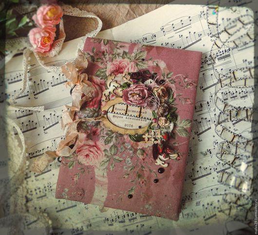 """Персональные подарки ручной работы. Ярмарка Мастеров - ручная работа. Купить Книга пожеланий """"Винтаж"""". Handmade. Комбинированный, винтаж"""