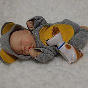 Куклы и пупсы ручной работы. Ярмарка Мастеров - ручная работа Куклы и пупсы: мини реборн, младенец, малыш 8 см. Handmade.