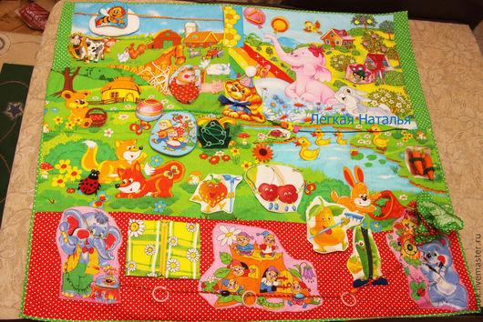 """Развивающие игрушки ручной работы. Ярмарка Мастеров - ручная работа. Купить Развивающий коврик """"Полянка"""". Handmade. Развивающая игрушка"""