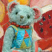 Куклы и игрушки ручной работы. Ярмарка Мастеров - ручная работа Медведь Арбуз. Handmade.