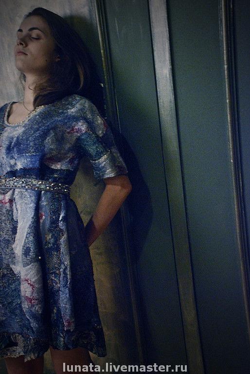 """Платья ручной работы. Ярмарка Мастеров - ручная работа. Купить Авторское валяное платье """"as the pearl mermaids breathing"""". Handmade."""
