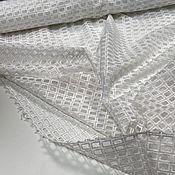 Материалы для творчества handmade. Livemaster - original item Fabric: Embroidered mesh on organza. Handmade.