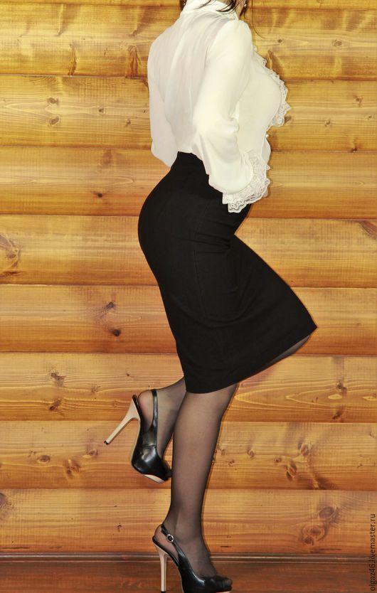 """Юбки ручной работы. Ярмарка Мастеров - ручная работа. Купить Юбка карандаш """"Черная классика"""". Handmade. Черный, юбка женская"""
