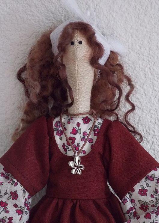 Куклы Тильды ручной работы. Ярмарка Мастеров - ручная работа. Купить Прованс. Handmade. Бордовый, подарок на любой случай, лён