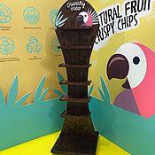 Дизайн и реклама ручной работы. Ярмарка Мастеров - ручная работа Рекламная стойка из дерева. Handmade.