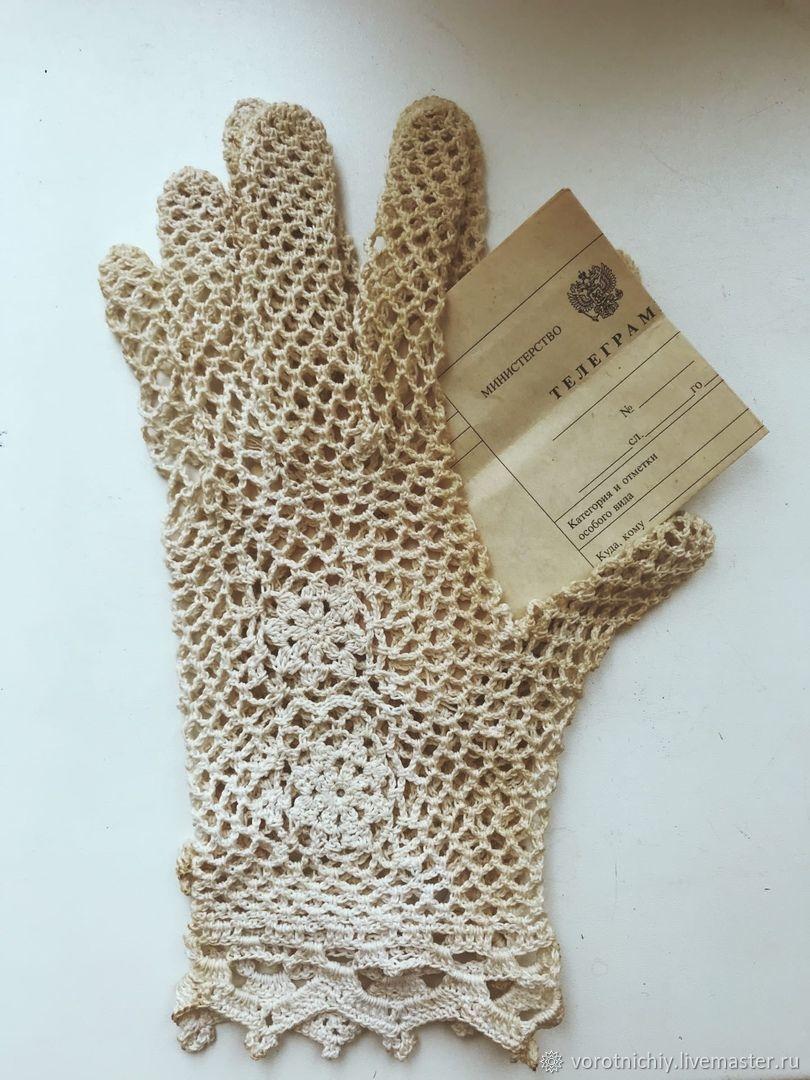 Vintage-style, aged gloves, Gloves, Stavropol,  Фото №1