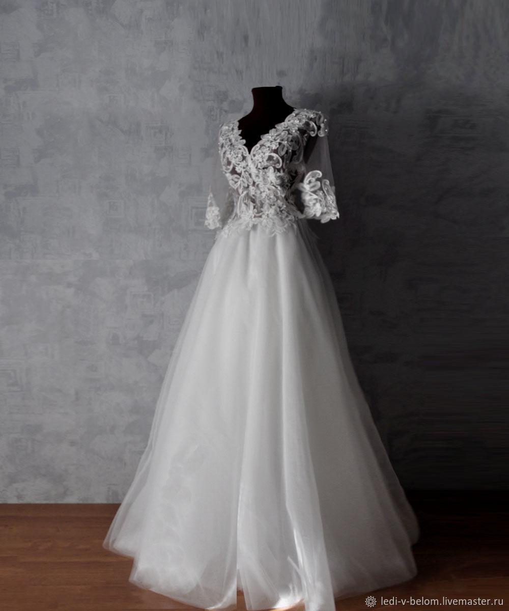 Свадебное платье с эффектом голого тела, Платья, Новокузнецк, Фото №1