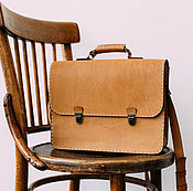 Сумки и аксессуары handmade. Livemaster - original item Briefcase leather large. Handmade.