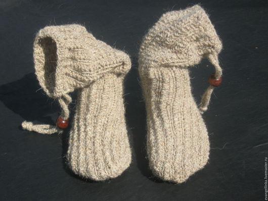 Носки, Чулки ручной работы. Ярмарка Мастеров - ручная работа. Купить Вязаные шерстяные носки. Handmade. Бежевый