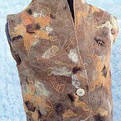 Одежда ручной работы. Ярмарка Мастеров - ручная работа Валяный жилет Подсолнушки. Handmade.