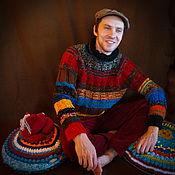 Одежда ручной работы. Ярмарка Мастеров - ручная работа Мужской вязаный свитер. Handmade.
