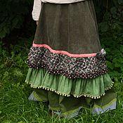 Одежда ручной работы. Ярмарка Мастеров - ручная работа Вельветовая юбочка с брошью. Handmade.