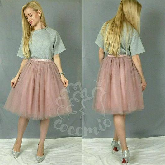 Юбки ручной работы. Ярмарка Мастеров - ручная работа. Купить Пышная юбка-пачка 6 слоев фатина пыльно-розового цвета. Handmade.