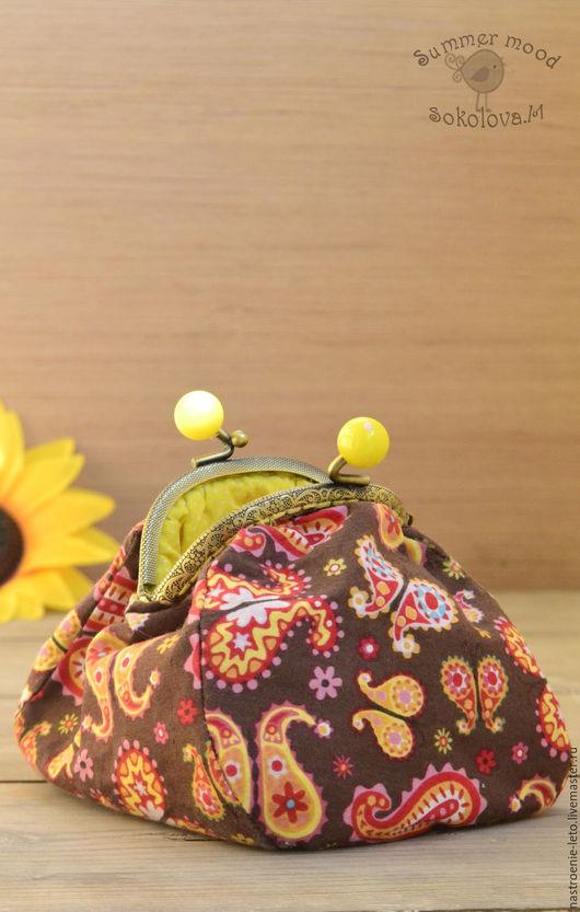 Женские сумки ручной работы. Ярмарка Мастеров - ручная работа. Купить Косметичка с фермуаром. Handmade. Косметичка, пейсли, текстильный кошелек