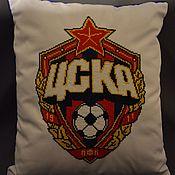 Для дома и интерьера handmade. Livemaster - original item Pillow CSKA. Handmade.