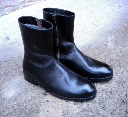 Обувь ручной работы. Ярмарка Мастеров - ручная работа. Купить мужские ботинки. Handmade. Черный, обувь на заказ, на зиму