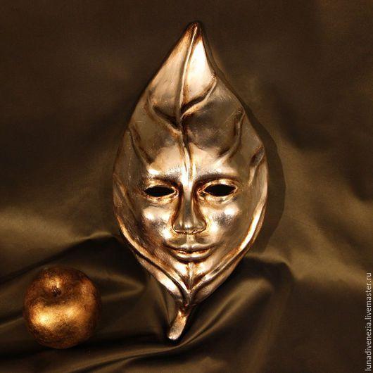 Интерьерные  маски ручной работы. Ярмарка Мастеров - ручная работа. Купить Маска венецианская Фольо Д'Ардженто. Handmade. Венецианская маска