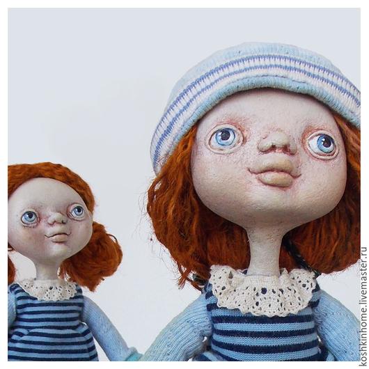 Коллекционные куклы ручной работы. Ярмарка Мастеров - ручная работа. Купить Близнецы Белка и Фокс. Handmade. Разноцветный, интерьерная кукла