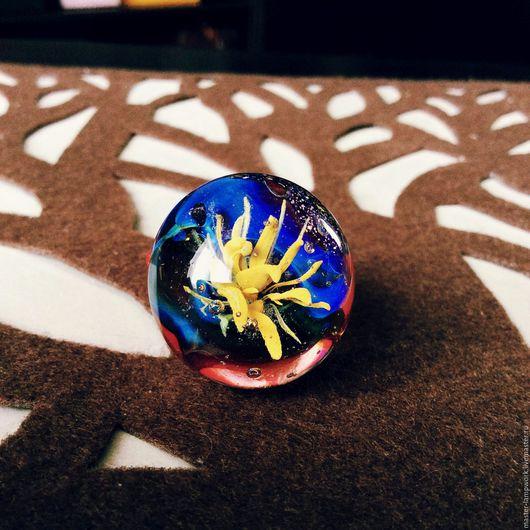 Кольца ручной работы. Ярмарка Мастеров - ручная работа. Купить Жёлтый цвет. Handmade. Желтый, авторский лэмпворк, Муранское стекло