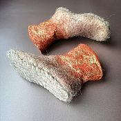 Одежда детская handmade. Livemaster - original item Wool socks-slippers. Handmade.