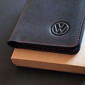 Канцелярские товары handmade. Livemaster - original item Volkswagen /// Cover for car documents. Handmade.
