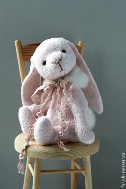 Мишки Тедди ручной работы. Ярмарка Мастеров - ручная работа. Купить Зайка Тедди Розовая Зайка. Handmade. Зайка тедди