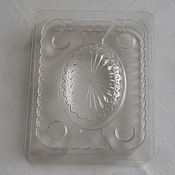 Материалы для творчества ручной работы. Ярмарка Мастеров - ручная работа Форма 3D для овального мыла, Bramble Berry, прозрачный пластик. Handmade.