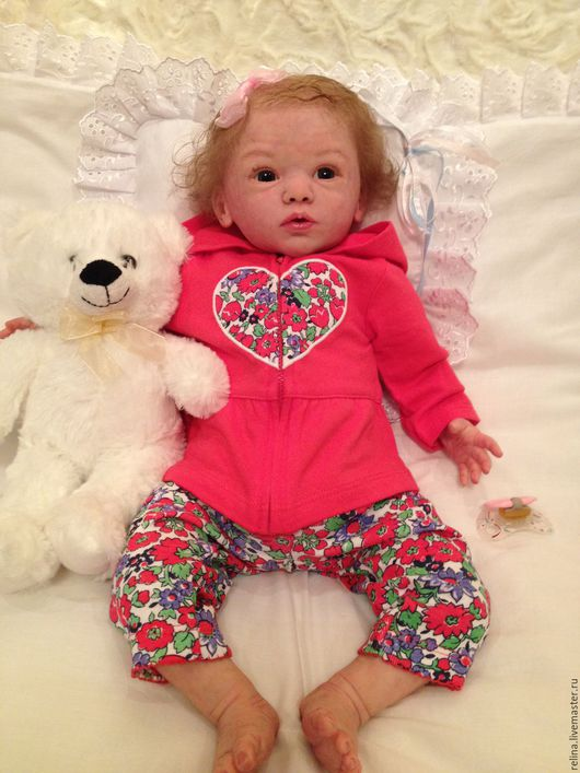 Куклы-младенцы и reborn ручной работы. Ярмарка Мастеров - ручная работа. Купить кукла реборн Майка. Handmade. Бежевый