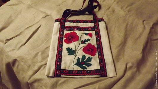 Женские сумки ручной работы. Ярмарка Мастеров - ручная работа. Купить Сумка с цветами. Handmade. Рисунок, цветы
