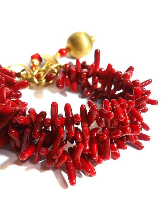 """Браслеты ручной работы. Ярмарка Мастеров - ручная работа. Купить Браслет """"AMOR"""". Handmade. Красный, рок, необычное украшение, сердце"""