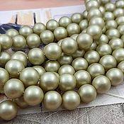 Материалы для творчества handmade. Livemaster - original item Majorca pearl frosted beads 8mm, 10 mm pale green (Ref. 2925). Handmade.