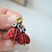 Украшения handmade. Livemaster - original item Earrings with bead lampwork