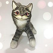 Мягкие игрушки ручной работы. Ярмарка Мастеров - ручная работа Чак милый кот. Handmade.