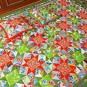 """Для дома и интерьера ручной работы. Ярмарка Мастеров - ручная работа Лоскутное покрывало """" Звёзды""""+ 2 наволочки. Handmade."""