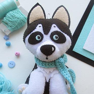 Подарки к праздникам ручной работы. Ярмарка Мастеров - ручная работа Собака Хаски символ 2018 года. Handmade.