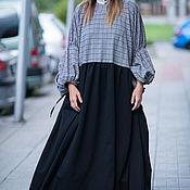 Одежда handmade. Livemaster - original item Luxurious Maxi dress, boxy - DR0144PM. Handmade.