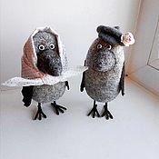 Куклы и игрушки handmade. Livemaster - original item A couple of crows