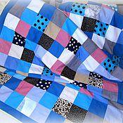 Для дома и интерьера ручной работы. Ярмарка Мастеров - ручная работа Покрывало лоскутное и настенные кармашки. Handmade.