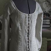 Одежда ручной работы. Ярмарка Мастеров - ручная работа Льняной костюм из блузы и юбки. Handmade.
