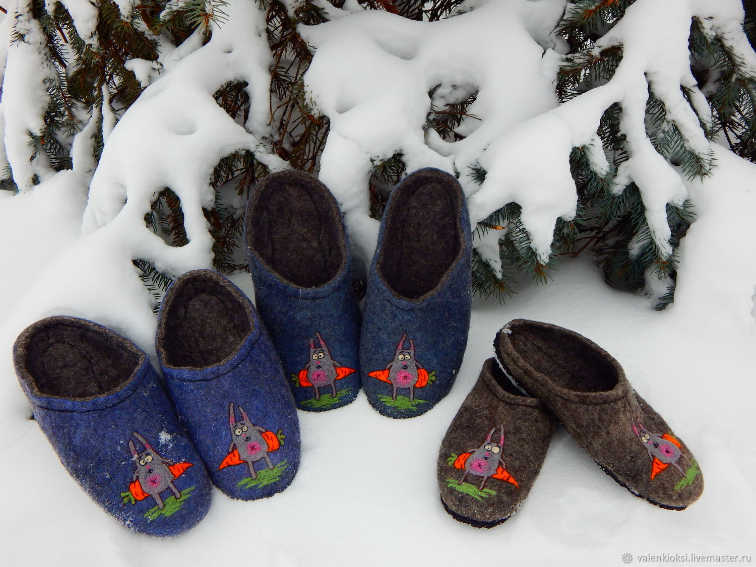 Felted Slippers for men or women 'To zai ', Slippers, Volgodonsk, Фото №1