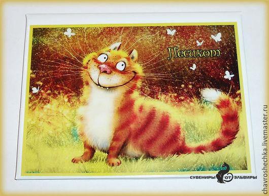 """Аксессуары для кошек, ручной работы. Ярмарка Мастеров - ручная работа. Купить """"Рыжая""""  обложка на ветпаспорт. Handmade. Белый, аксессуары для животных"""