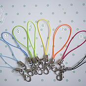 Материалы для творчества handmade. Livemaster - original item Drawstring snap hook for keychain, phone,color, color selection. Handmade.