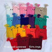 Одежда для кукол ручной работы. Ярмарка Мастеров - ручная работа Шапочки для кукол с снудом. Handmade.