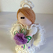Куклы и игрушки ручной работы. Ярмарка Мастеров - ручная работа рождественский ангел вязаный. Handmade.