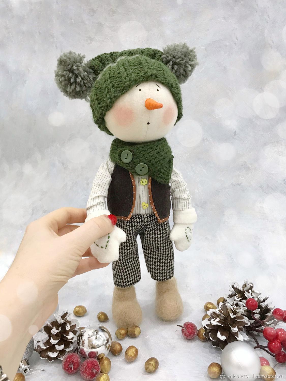 Снеговик текстильный, Тыквоголовка, Москва,  Фото №1