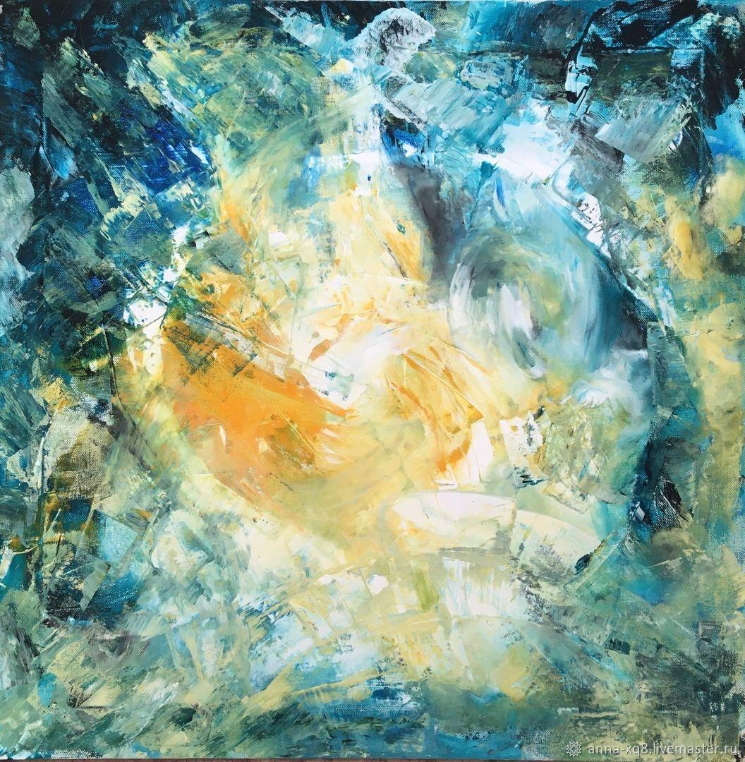 Картина Золотой Единорог. Абстракция на холсте, Картины, Рыбинск,  Фото №1
