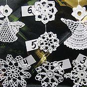 Подарки к праздникам ручной работы. Ярмарка Мастеров - ручная работа Ажурные снежинки и ангелочки. Handmade.